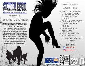 Step Team Announcement Flyer